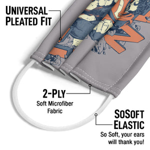 Superman Coming Through Adult Universal Pleated Fit, 2-Ply, SoSoft Elastic Earloops