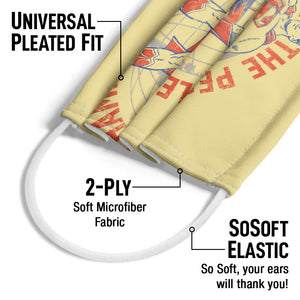 Superman Peoples Champion Adult Universal Pleated Fit, 2-Ply, SoSoft Elastic Earloops