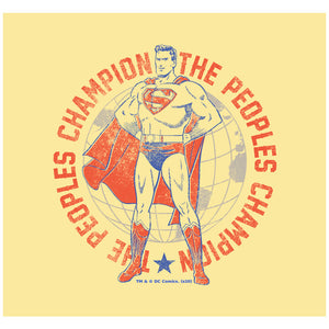 Superman Peoples Champion Adult Mask Design Full View