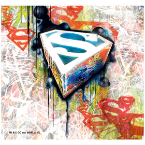 Superman Urban Shields Adult Mask Design Full View