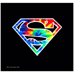 Superman Tie Dye Logo Adult Mask Design Full View
