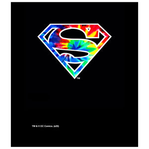 Superman Tie Dye Logo Kids Mask Design Full View