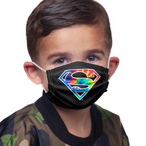 Superman Tie Dye Logo Kids Main Model View