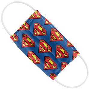 Load image into Gallery viewer, Superman Classic S Shield Logo Pattern Kids Flat View