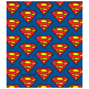 Superman Classic S Shield Logo Pattern Kids Mask Design Full View