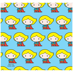 Superman Supergirl Cute Chibi Character Pattern