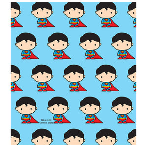 Superman Cute Chibi Character Pattern Kids Mask Design Full View