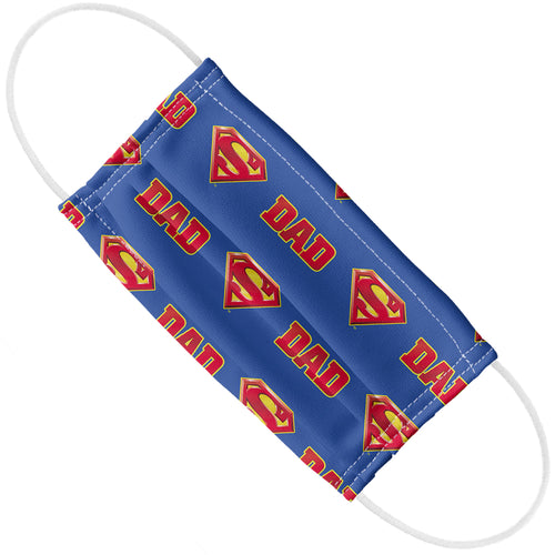 Superman Super Dad Shield Logo Pattern Adult Flat View
