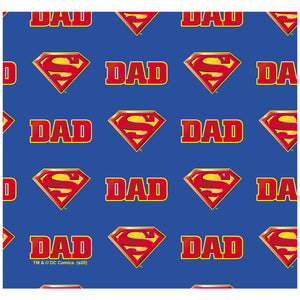 Superman Super Dad Shield Logo Pattern Adult Mask Design Full View