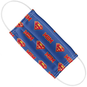 Superman Super Mom Shield Logo Pattern Adult Flat View