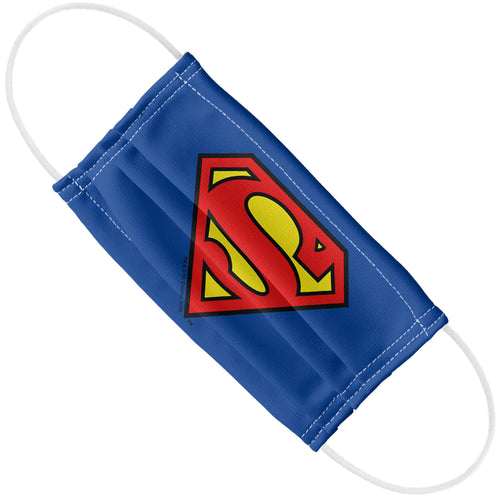 Superman Classic S Shield Logo Adult Flat View