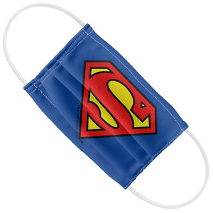 Load image into Gallery viewer, Superman Classic S Shield Logo Kids Flat View