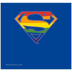 Superman Rainbow Shield Logo Pattern Adult Mask Design Full View