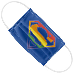 Superman Rainbow Shield Logo Pattern Kids Flat View