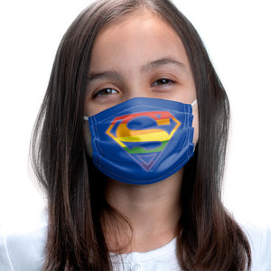Superman Rainbow Shield Logo Pattern Kids Main Model View