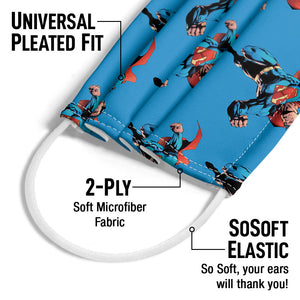 Superman Character Pattern Adult Universal Pleated Fit, 2-Ply, SoSoft Elastic Earloops