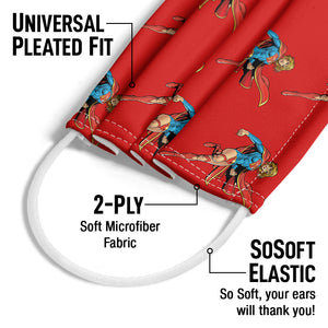 Load image into Gallery viewer, Superman Supergirl Character Pattern Adult Universal Pleated Fit, 2-Ply, SoSoft Elastic Earloops