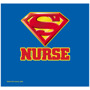 Load image into Gallery viewer, Superman Super Nurse Adult Mask Design Full View