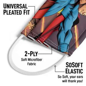 Load image into Gallery viewer, Superman Attack on Metropolis Kids Universal Pleated Fit, 2-Ply, SoSoft Elastic Earloops