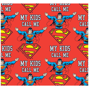 Superman My Kids Call Me Adult Mask Design Full View