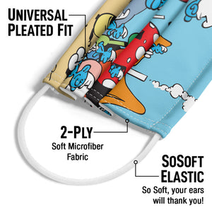 Smurfs Village Adult Universal Pleated Fit, 2-Ply, SoSoft Elastic Earloops