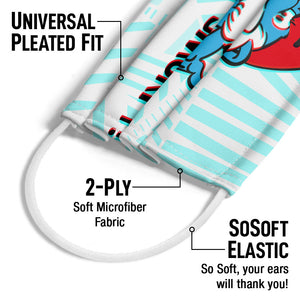 Smurfs Papa Smurf Just Smurfy Adult Universal Pleated Fit, 2-Ply, SoSoft Elastic Earloops