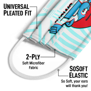 Smurfs Papa Smurf Just Smurfy Kids Universal Pleated Fit, 2-Ply, SoSoft Elastic Earloops
