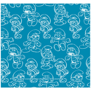 Smurfs Sketch Pattern Adult Mask Design Full View