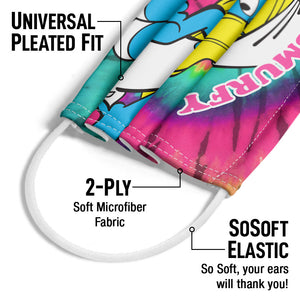 Smurfs Smurfette Feeling Smurfy Tie Dye Adult Universal Pleated Fit, 2-Ply, SoSoft Elastic Earloops