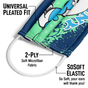 Smurfs Jokey Funny Adult Universal Pleated Fit, 2-Ply, SoSoft Elastic Earloops