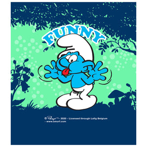 Load image into Gallery viewer, Smurfs Jokey Funny Kids Mask Design Full View