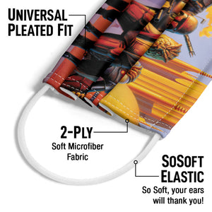 Star Wars Bounty Hunters Adult Universal Pleated Fit, 2-Ply, SoSoft Elastic Earloops