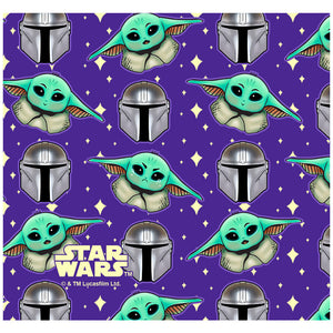 Star Wars Cute Guardian and The Child Adult Mask Design Full View