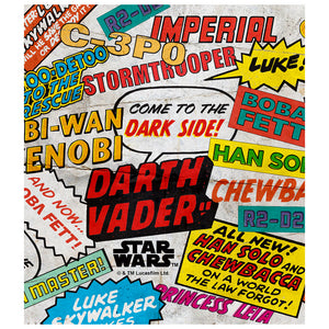 Load image into Gallery viewer, Star Wars Comic Tags Kids Mask Design Full View