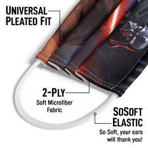Star Wars Darth Vader Fight Pose Kids Universal Pleated Fit, 2-Ply, SoSoft Elastic Earloops