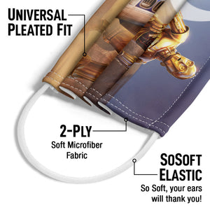 Load image into Gallery viewer, Star Wars R2-D2 and C-3PO Adult Universal Pleated Fit, 2-Ply, SoSoft Elastic Earloops