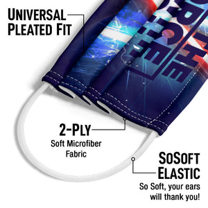Star Wars May the Force be With You Adult Universal Pleated Fit, 2-Ply, SoSoft Elastic Earloops