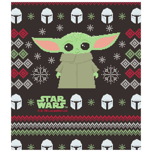 Star Wars The Child Christmas Kids Mask Design Full View