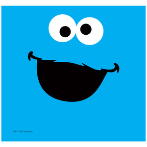 Sesame Street Cookie Monster Face Adult Mask Design Full View
