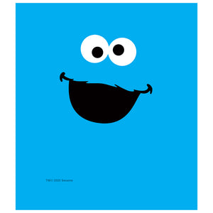Load image into Gallery viewer, Sesame Street Cookie Monster Face Kids Mask Design Full View