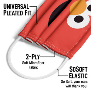 Sesame Street Elmo Face Adult Universal Pleated Fit, 2-Ply, SoSoft Elastic Earloops