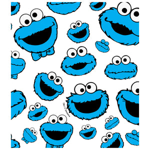 Sesame Street Cookie Face Pattern Kids Mask Design Full View