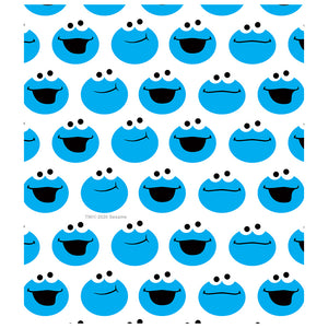 Load image into Gallery viewer, Sesame Street Simple Cookie Pattern Kids Mask Design Full View