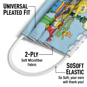 Load image into Gallery viewer, Sesame Street Retro Gang Kids Universal Pleated Fit, 2-Ply, SoSoft Elastic Earloops