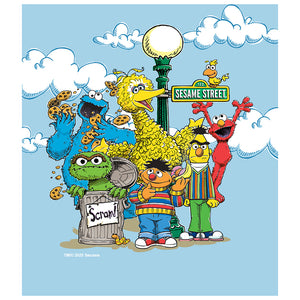 Load image into Gallery viewer, Sesame Street Retro Gang Kids Mask Design Full View