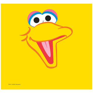 Load image into Gallery viewer, Sesame Street Big Bird Head Adult Mask Design Full View