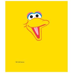 Load image into Gallery viewer, Sesame Street Big Bird Head Kids Mask Design Full View