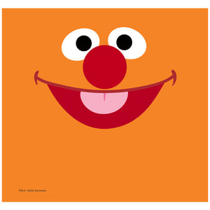 Sesame Street Ernie Face Adult Mask Design Full View