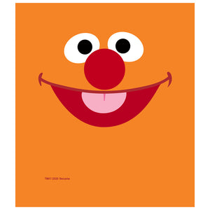 Sesame Street Ernie Face Kids Mask Design Full View