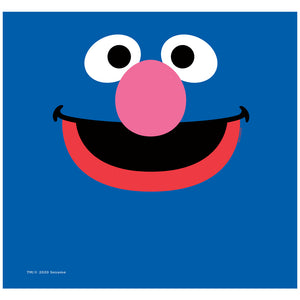 Sesame Street Grover Face Adult Mask Design Full View